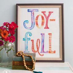 joy-full - the handmade home