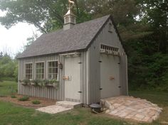 Our 12'x 20' even pitch post & beam garden shed. www.countrycarpenters.com