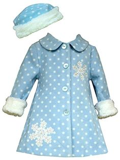 Bonnie Jean Baby Girls Snowflake Fleece Coat with Hat 03 months * Be sure to check out this awesome product.