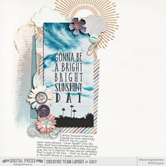Sunshiny Day - I Can See Clearly Now elements and Papers by KimB #scrapbook #digiscrap