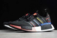 adidas NMD R1 Black/Multi-Color FY1433 For Sale Nmd R1, Adidas Nmd_r1, Adidas Sneakers, New Shoes, Color, Black, Fashion, Moda, Black People