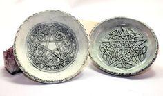 Pentagram Altar Dish Ritual Tool Pentacle by GypsyWyldeArt 15.00 https://www.etsy.com/shop/GypsyWyldeArt?ref=hdr_shop_menu