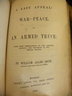 One of numerous pamphlets written about the Crimean War