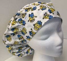 Minion Size: Large Medical Bouffant OR Scrub Cap Surgery Hat #Handmade