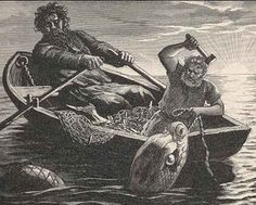 Sea Giant Hymer and Thor. Hymer owned the cauldron the gods were said to cook their mead in. The Story Of Thor, Viking Culture, Arch Enemy, Old Norse, Asatru, Norse Vikings, Viking Age, Norse Mythology, Anglo Saxon