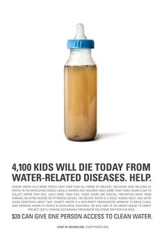 Powerful image that hits me in the face and moves my heart every time I see it.    clean water | charity: water