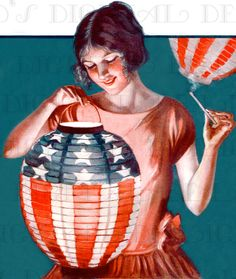Lighting The American Patriotic LANTERN by DandDDigitalDelights, $1.99