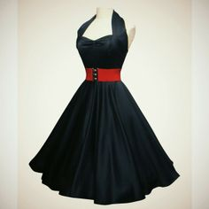 1950s Pin Up Dress ❤ liked on Polyvore