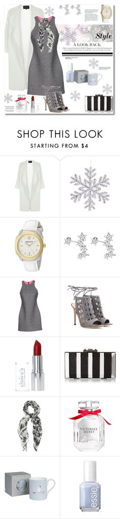 """""""Holiday Style"""" by vkmd on Polyvore featuring River Island, Versace, Sterling Essentials, T By Alexander Wang, Gianvito Rossi, BCBGMAXAZRIA, STELLA McCARTNEY, Victoria's Secret, Sophie Allport and Essie"""