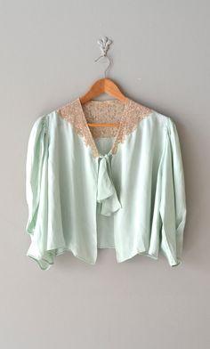 1930s lingerie / 30s silk bed jacket