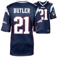 Fanatics Authentic Malcolm Butler New England Patriots Autographed Blue  Nike Limited Jersey with The Butler Did It Inscription 647ec4f7f