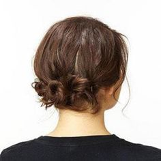 Checkout our tutorial to create this easy messy bun updo for prom.