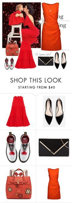 """""""Super DIA da MÃE"""" by misaflowers ❤ liked on Polyvore featuring Lisa Marie Fernandez, MANGO, Dr. Martens, Henri Bendel and Moschino"""