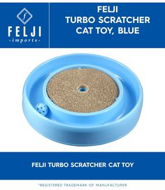 Felji Turbo Scratcher Cat Toy Blue *** Additional details found at the image link : Cat scratcher Cat Training Pads, Cat Id Tags, Cat Shedding, Cat Scratcher, Cat Fleas, Cat Memorial, Cat Grooming, Cat Health, Cat Toys