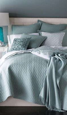 Add an element of texture with SFERRA Bradley quilt set - in 3 soft hues: Ocean, Butter, and Rose. Bed Linens Luxury, Bed Linen Design, Cheap Bed Linen, Cheap Bed Sheets, Best Bedding Sets, Cool Beds, Bed, Bedding And Bath, Home Decor