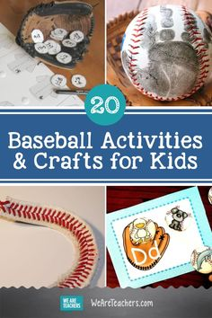 Batter Up! 20 Grand Slam Baseball Activities and Crafts for Kids. Calling all sports fans! These fun baseball activities help kids practice math facts, work on reading skills, and create cool crafts to display.