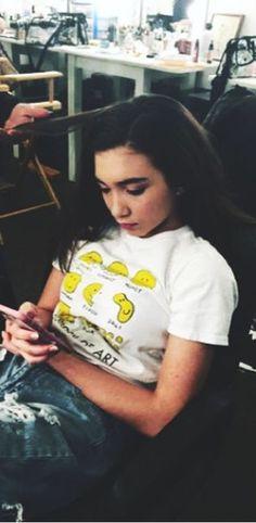 Art wearing a shirt of artists