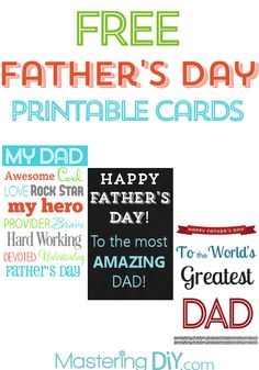 Free Printable Father's Day Cards!!