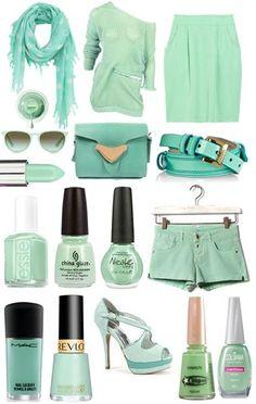 Verde Menta: Cores de Sorvete  www.maria-florzinha.blogspot.com.br  http://www.facebook.com/mariaflorzinha.confeccoes