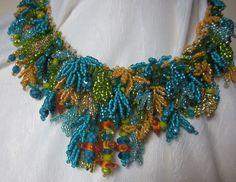 spring garden necklace.  design 2009 by Linda Gettings