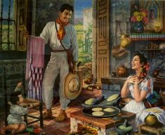 Jesus Helguera :-) a childhood memory, this print was in my moms kitchen!
