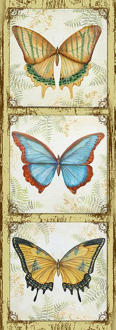 I uploaded new artwork to fineartamerica.com! - 'Butterfly Trio-2' - http://fineartamerica.com/featured/butterfly-trio-2-jean-plout.html via @fineartamerica