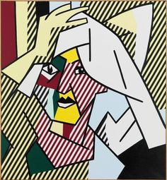 Woman Drying Her Hair by Roy Lichtenstein, 1980, oil on magna on canvas | Gagosian Gallery