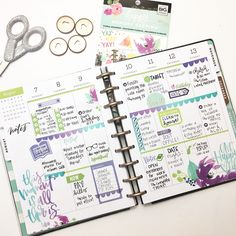 """155 Likes, 7 Comments - Heather Kell (@kellofaplan) on Instagram: """"Hi! Remember me? I know, I know. I've been pretty MIA this week. I've been dealing with a few…"""" Happy Planner"""