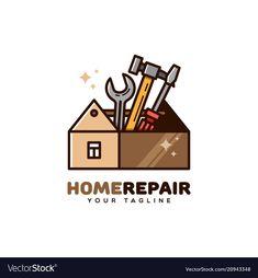 Home repair logo Royalty Free Vector Image - VectorStock , Bauunternehmen Logo, Zen Logo, Business Logo, Business Design, Handyman Logo, Puzzle Logo, Maintenance Logo, Cupcake Logo, Service Logo