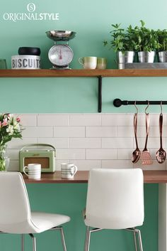 Wall tiles by Original Style, Artworks Range, Vintage White Large Brick. Use these warm Vintage White brick tiles for a crisp, clean look in bathrooms and kitchens. This retro style will look great in any kitchen.