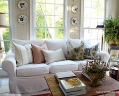 Love white couches!!