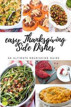 The ultimate list of easy & healthy Thanksgiving side dish recipes | #brusselssprouts #recipes #healthy #holidays #thanksgiving via @nourishnutrico