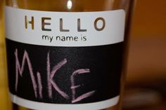 Cup Name Labels