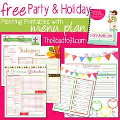 Get FREE Party and Holiday Planning Printables PLUS 4 week Menu Plan when you subscribe to TheRoadto31.com!