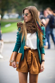 Once upon a time.. - Fashion Blog by Eleonora Pellini: Milan Fashion Week Day #2 - The outfit - Shirt, Blazer and Shorts from #h
