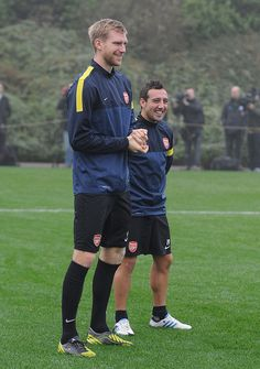 ~ Per Mertesacker and Santi Cazorla on Arsenal FC. Talk about height difference! ~