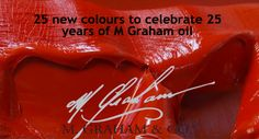 Check out these #brandnew oil colours in #celebration of #'mgraham's 25 year anniversary