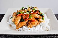 Cashew Chicken -- we didn't have any edamame, but this was delicious anyway! How Sweet Eats, Chinese Food, Food Dishes, Main Dishes, Vegan Recipes Easy, Organic Recipes, Vegetarian Recipes, Ethnic Recipes, Yummy Recipes