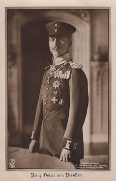 Prinz Oscar von Preussen, Prince of Prussia 1888 – 1958 Adele, Von Hohenzollern, Royal Family Trees, Royal Monarchy, German Uniforms, Royal Prince, Old Postcards, Queen Victoria, Old Pictures