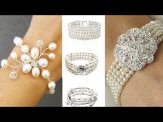 Newest collection of White Pearl Bangles & Bracelets Designer Jewellery.