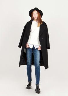 LOOKAST CHAPTER #6 - Black oversized long coat