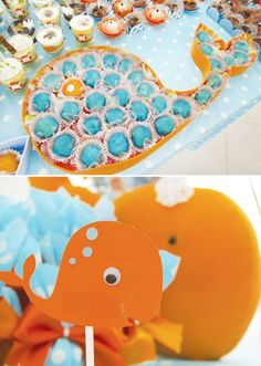 {Cute + Crafty} Whale Themed Birthday Party // Hostess with the Mostess®