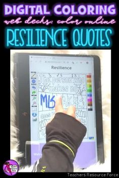 Are you looking for something inspirational that will support your students with their mental well-being that can be completed online with no resources required whatsoever? Then look no further than these brand new style of Online Digital Colouring Page Decks: Resilience Quotes #digitalcoloring #resilience #onlinecoloring #mindfulness #sel Teaching Character, Character Education, Character Development, Quote Coloring Pages, Colouring Pages, Teacher Resources, Teaching Ideas, Resilience Quotes, Mindfulness Colouring
