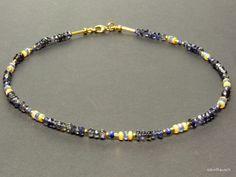 Opal - Kette, Opale in´s Blaue! - ein Designerstück von steinRausch bei DaWanda