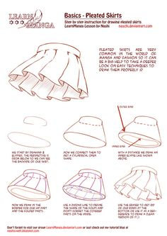 Learn Manga Basics: Pleated Skirts by Naschi on deviantART