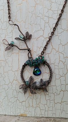 fern brake..in blue/green crystal with apatite and green onyx