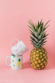 DIY pineapple mug - Carnets parisiens