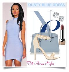 """MUST HAVE x ICE BLUE DRESS"" by dopegeezy ❤ liked on Polyvore featuring Mallet & Co and Marc Jacobs"