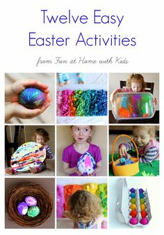 12 Easy Easter Activities for Toddlers and Older Children from Fun at Home with Kids