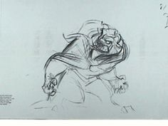 Glen Keane - rough penciltest - BEAST by LXP. that's not a new one. This linetest has been circulating in the net for a while now.